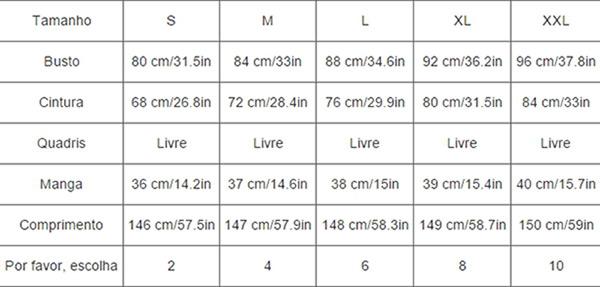 Tabela para conversão de medidas é essencial em dicas de como comprar no aliexpress