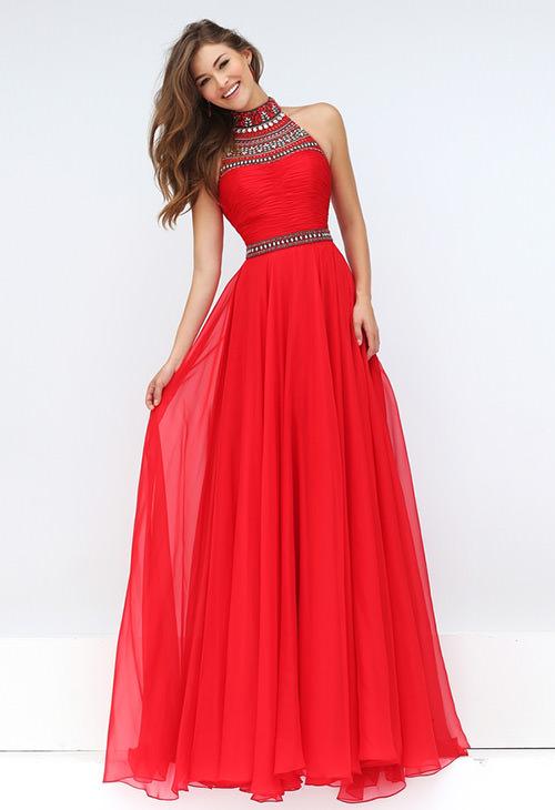 Vestido formatura longo vermelho