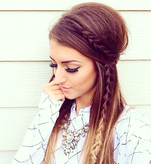 Adoro tranças entre os cabelos, fica lindo