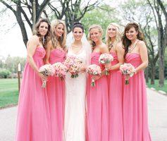 Vestidos de Madrinha Rosa: 11 Inspirações para Ficar Maravilhosa