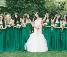Vestidos de Madrinha Verde: 11 Inspirações Bem Diferentes para Você Arrasar