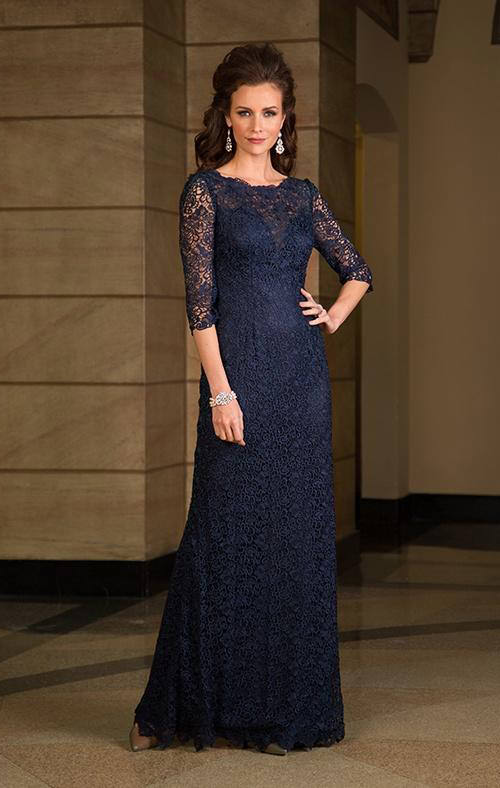 Vestido longo azul mae da noiva