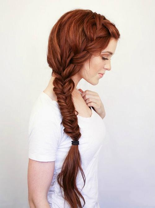 Penteados para Debutantes com trança espinha de peixe são lindos demais